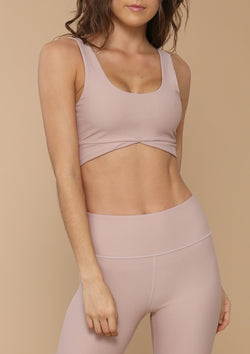 NO. 0125 SCOOP SPORTS BRA- DESERT ROSE