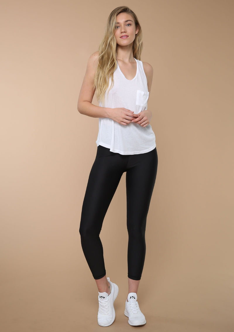 Blank Label Active | Shop Bundles and Save | Racer Back Tank With Drapey Pocket