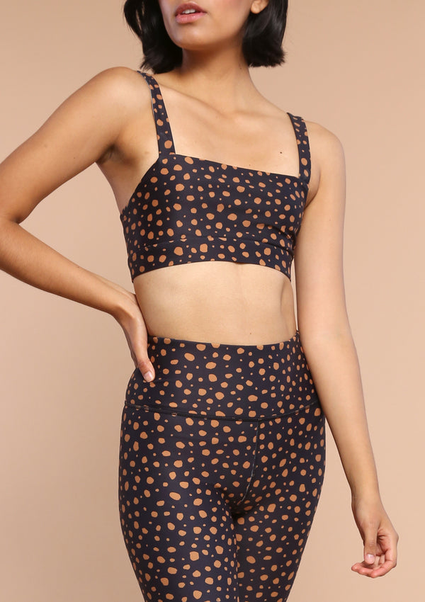 NO. 0128 BANDEAU SPORTS BRALETTE- WILD DOT