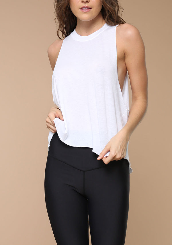 Blank Label Active Sleeveless Muscle Tank | Activewear Layering Piece