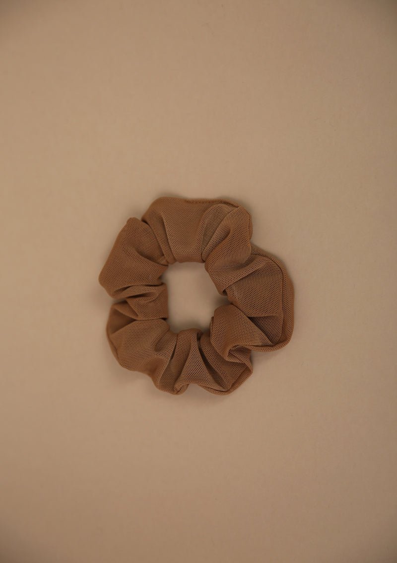 NO. 0151 SUNTAN MESH SCRUNCHIE