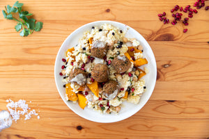 Falafels with Middle Eastern Couscous
