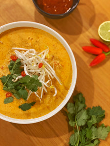 Spicy laksa soup