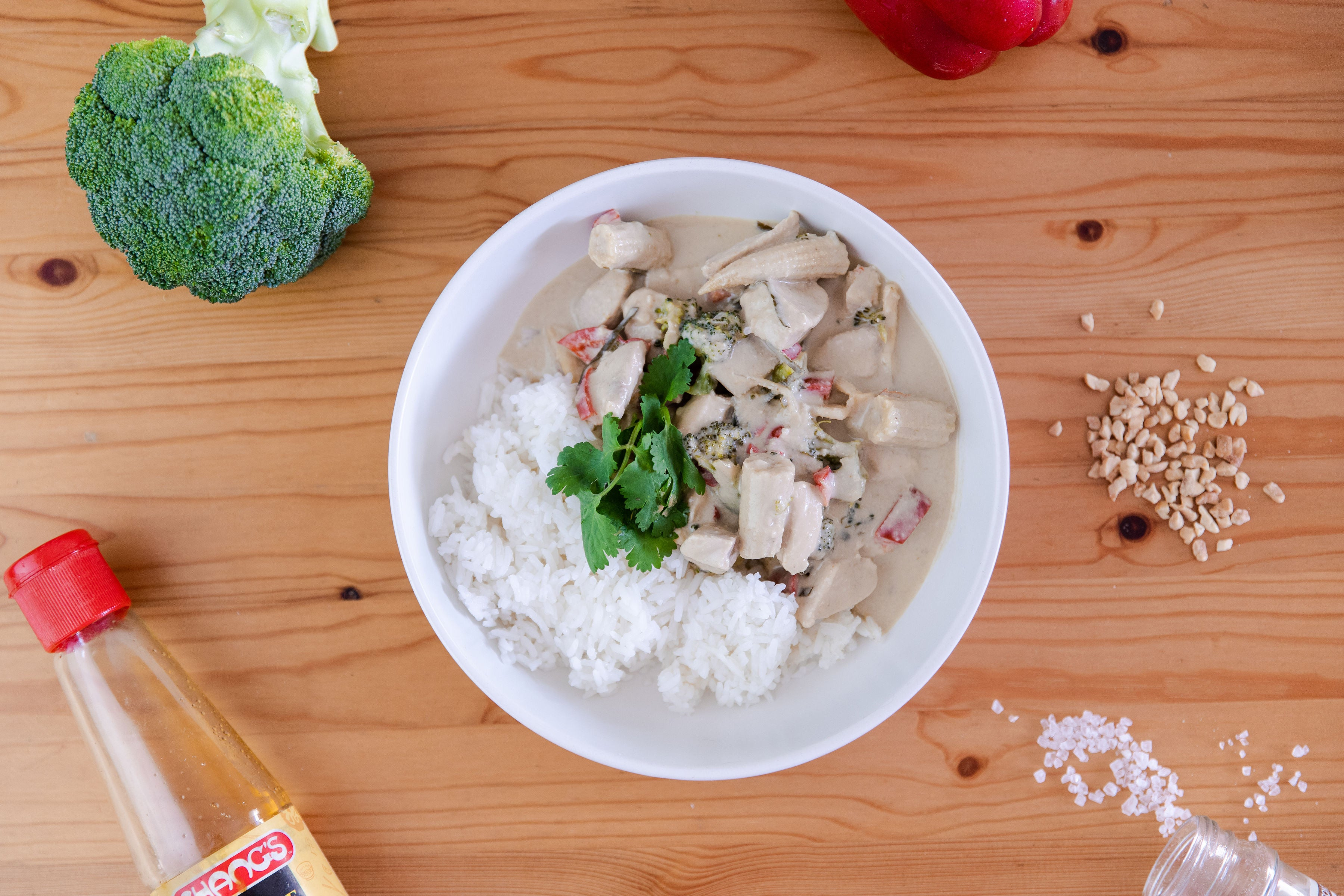 Green Thai Curry with Rice