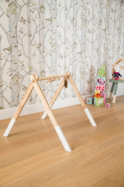 spielbogen holz trapez spieltrapez baby handgemacht bio. Black Bedroom Furniture Sets. Home Design Ideas