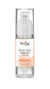 Reviva Labs, Brown Spot Night Gel, Glycolic Acid, Brightening, 1.0 fl oz (29.5 ml)