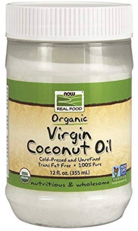 NOW Foods Organic Virgin Coconut Oil, 12 oz