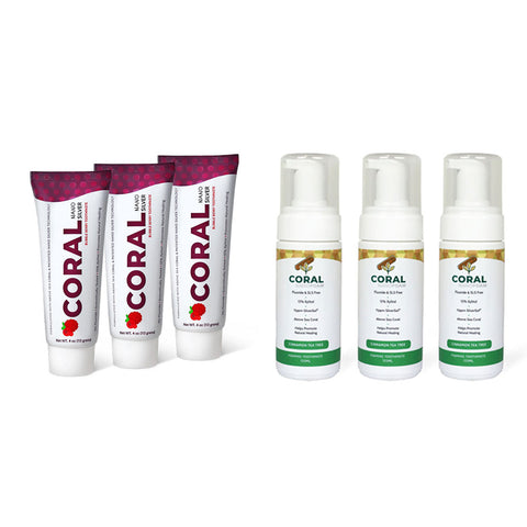 Image of Nano Silver 6 Tube Toothpaste & Foaming Pack