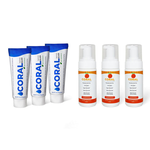 Nano Silver 6 Tube Toothpaste & Foaming Pack