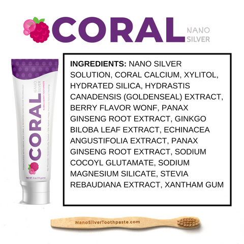 Image of Coral Nano Silver Toothpaste w/FREE Starter Bundle incl. Tube squeezer and Toothbrush