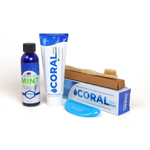 FREE Coral Nano Silver Toothpaste & Mouthwash Trial Pack (discount applied at checkout)