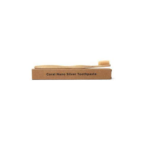 Image of Natural and Organic Bamboo Toothbrush - Adult
