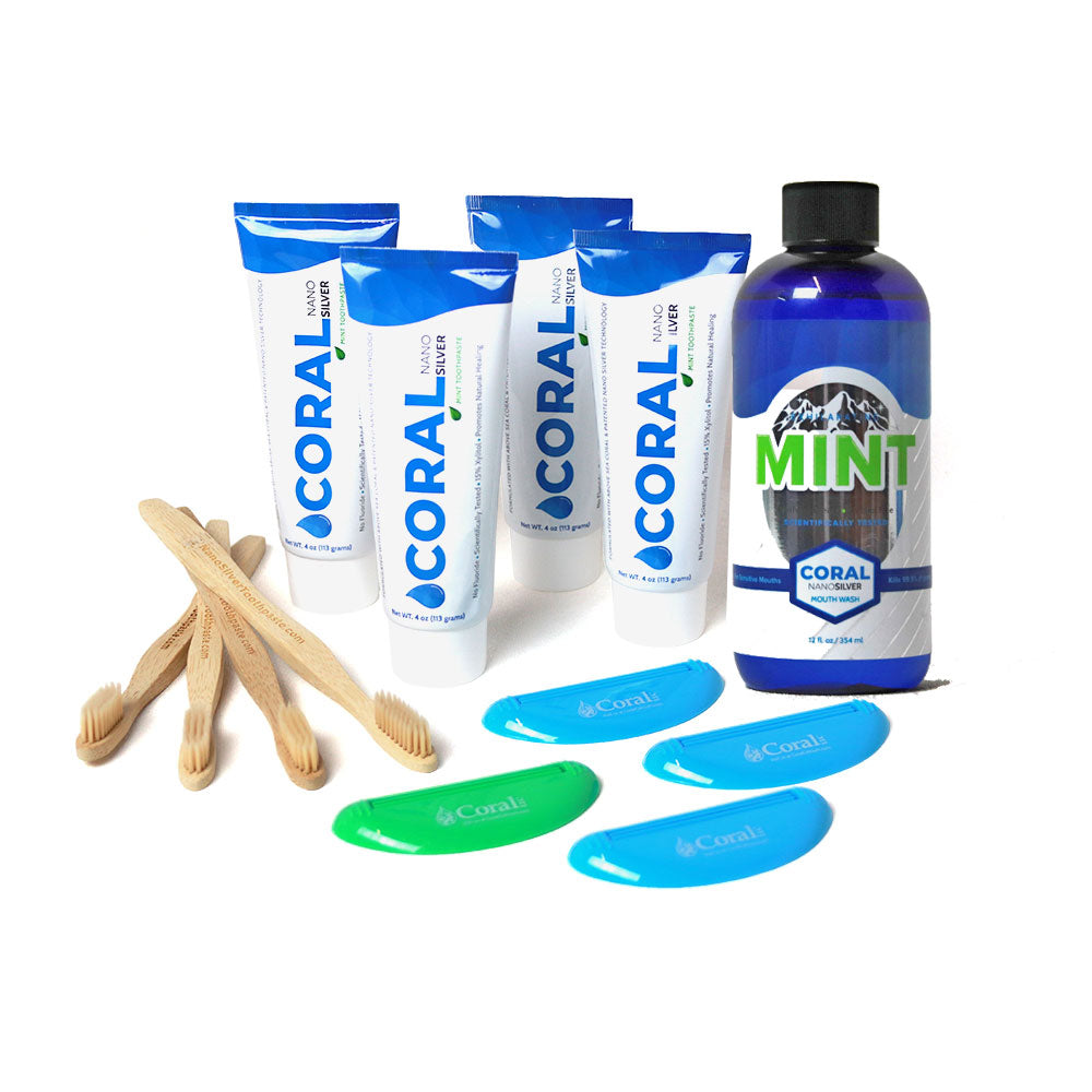 4 Pack Coral Nano Flavor Bundle With Mouthwash