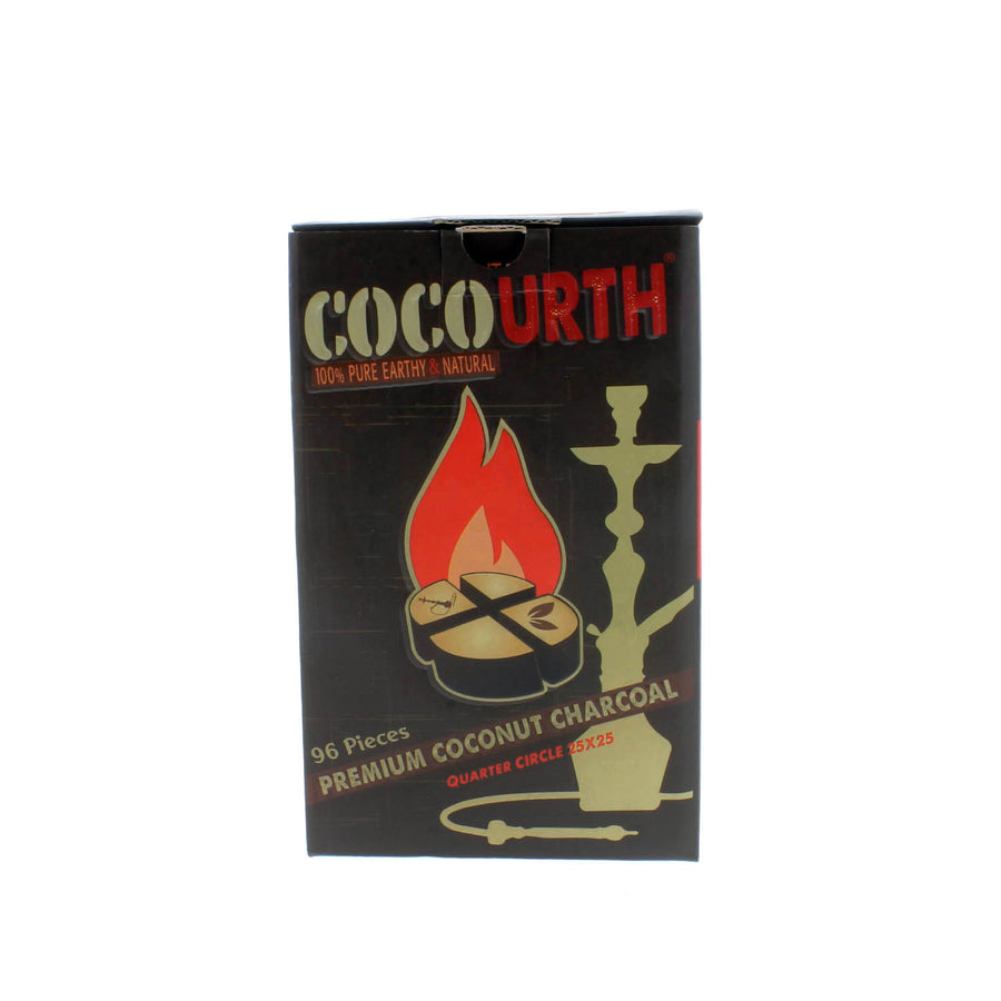 Cocourth Organic Coconut Hookah Charcoal (96 Pieces -Quarter Circle)