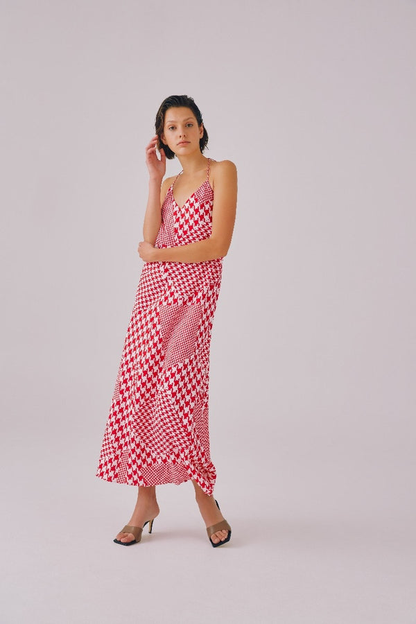 CMEO-COLLECTIVE-JUST-ASKING-DRESS-RED-HOUNDSTOOTH