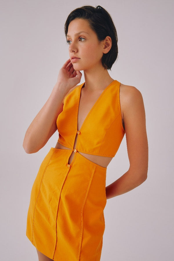 CMEO-COLLECTIVE-THANKFUL-SS-DRESS-TANGERINE