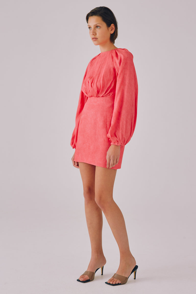 PRIMARILY LS DRESS - PINK