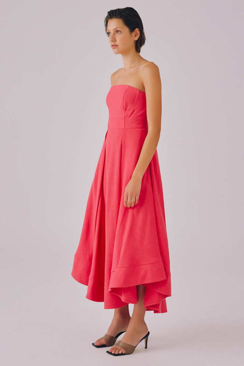 C/MEO COLLECTIVE CLEAR MESSAGE DRESS - HOT PINK