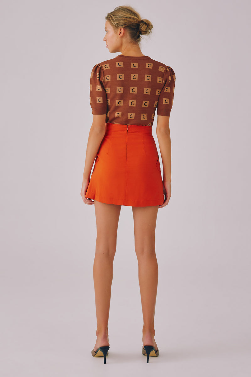 OUTBREAK SKIRT - BURNT ORANGE