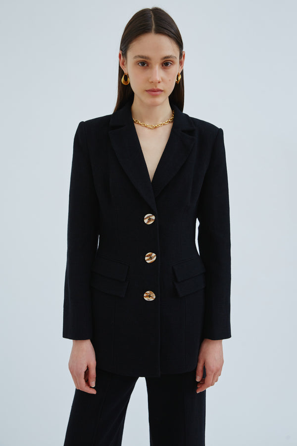 C/MEO-COLLECTIVE-INTERLACE-BLAZER-BLACK