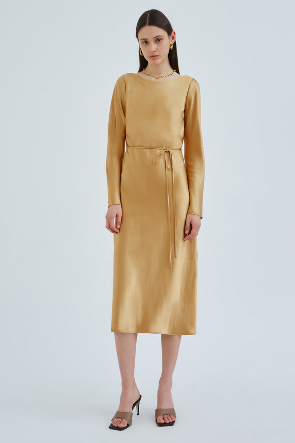 C/MEO-COLLECTIVE-ENTWINE-MIDI-DRESS-GOLD