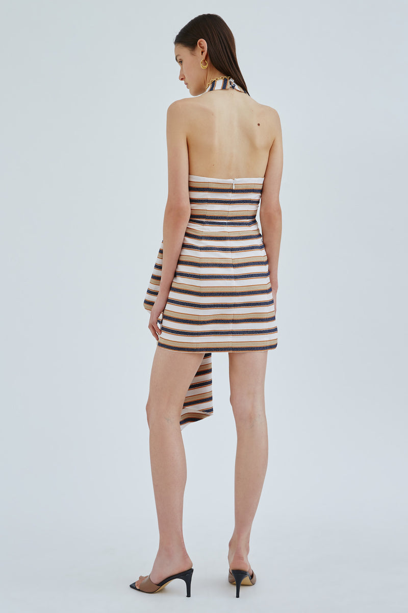 CMEO_COLLECTIVE_FRAME_DRESS_IVORY_W_STONE_STRIPE
