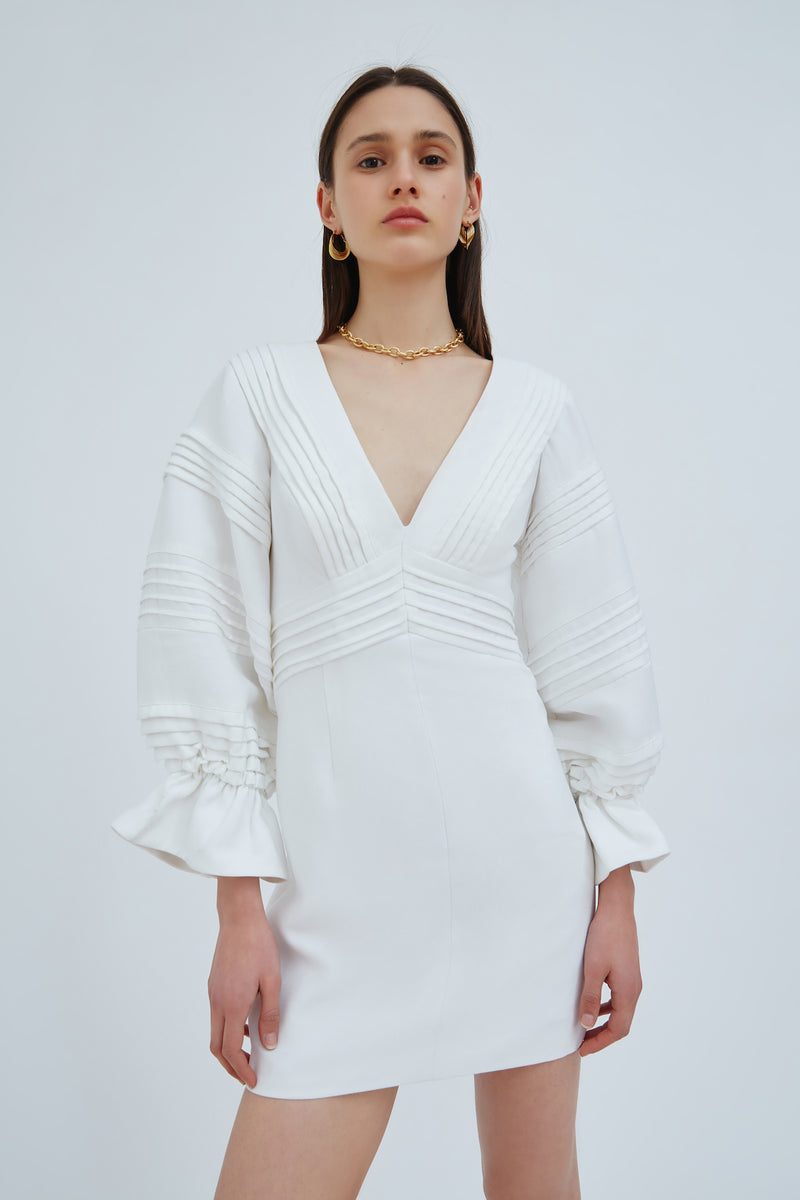 C/MEO-LINEAL-DRESS-IVORY
