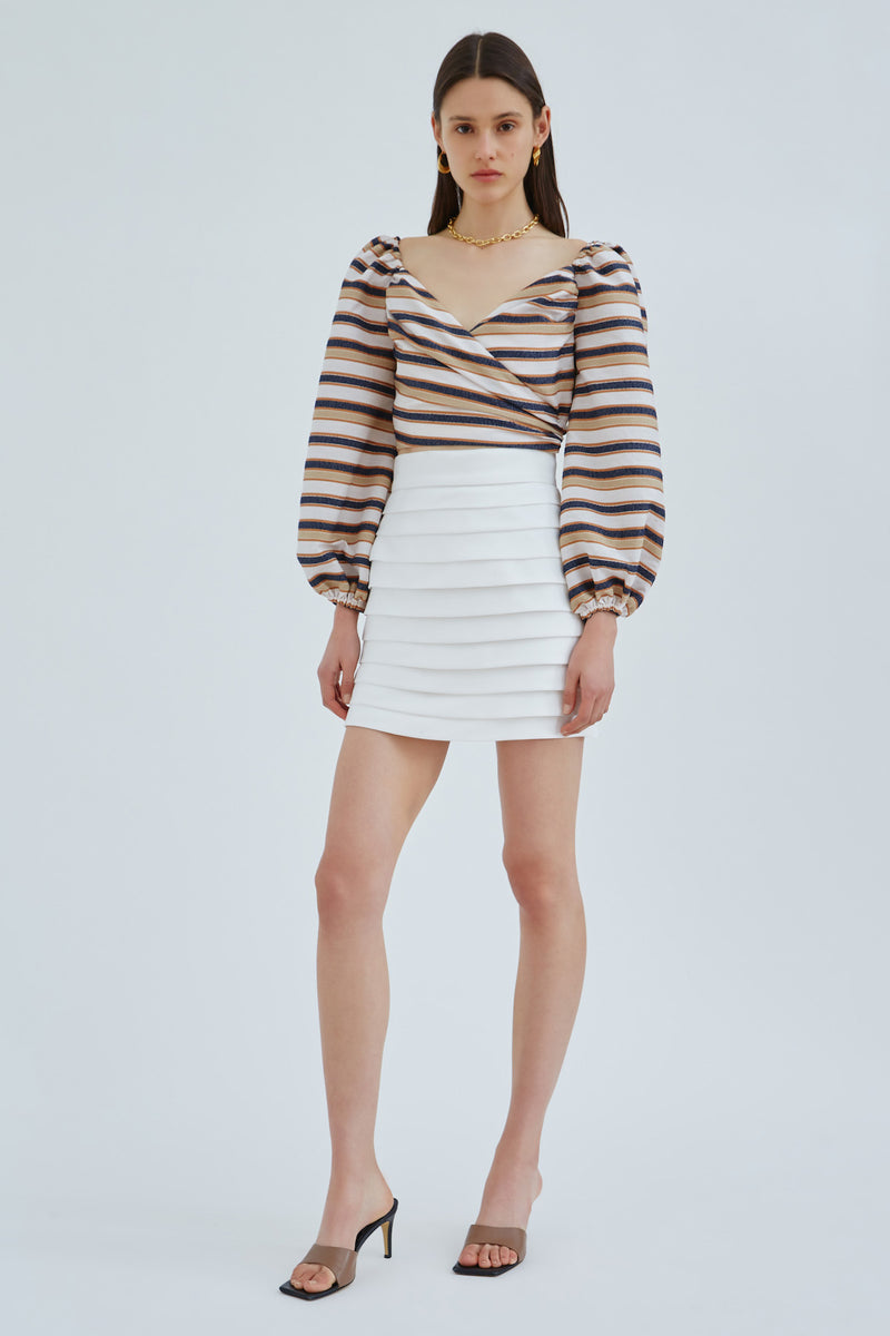 C/MEO-LINEAL-SKIRT-IVORY