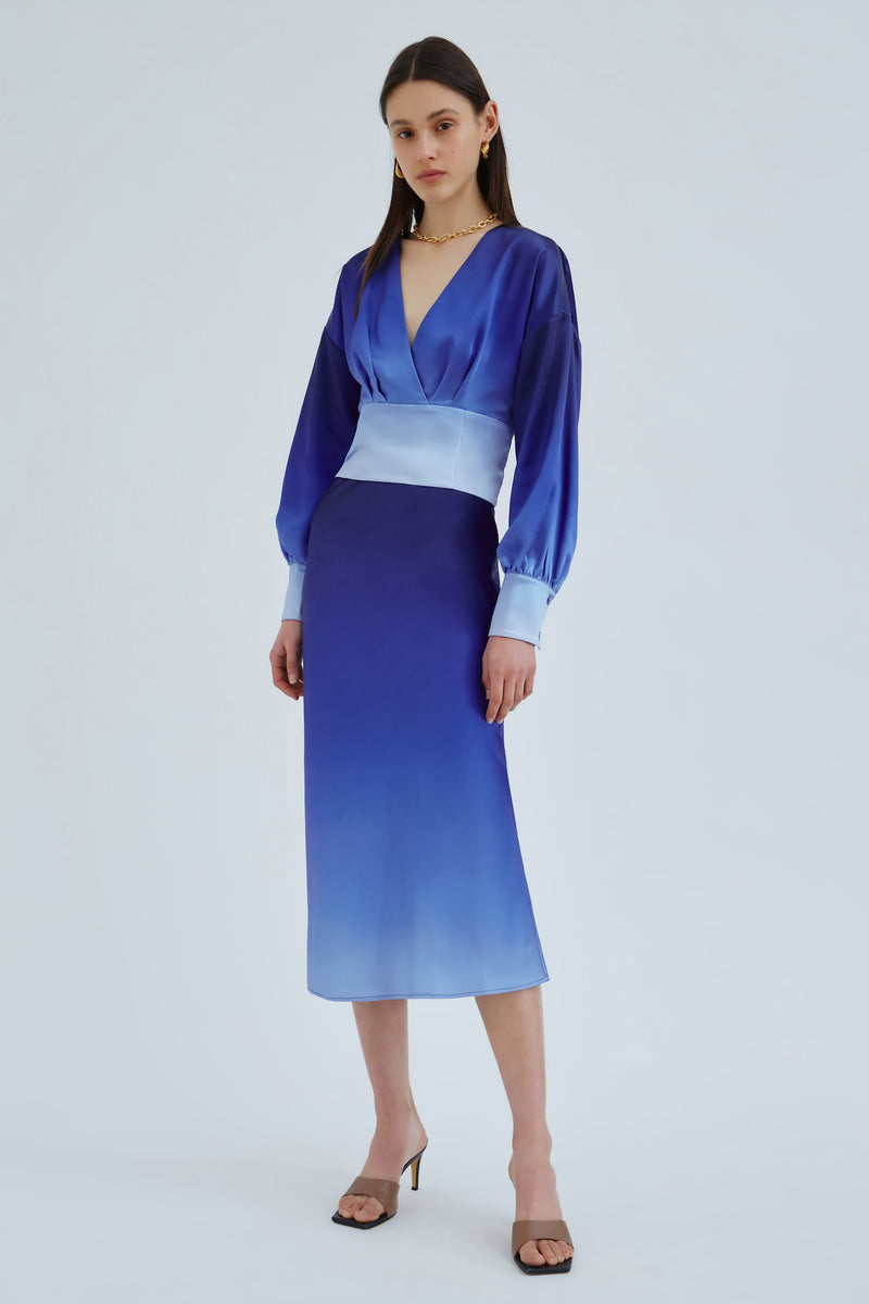 C/MEO-ENTWINE-SKIRT-COLBALT-OMBRE