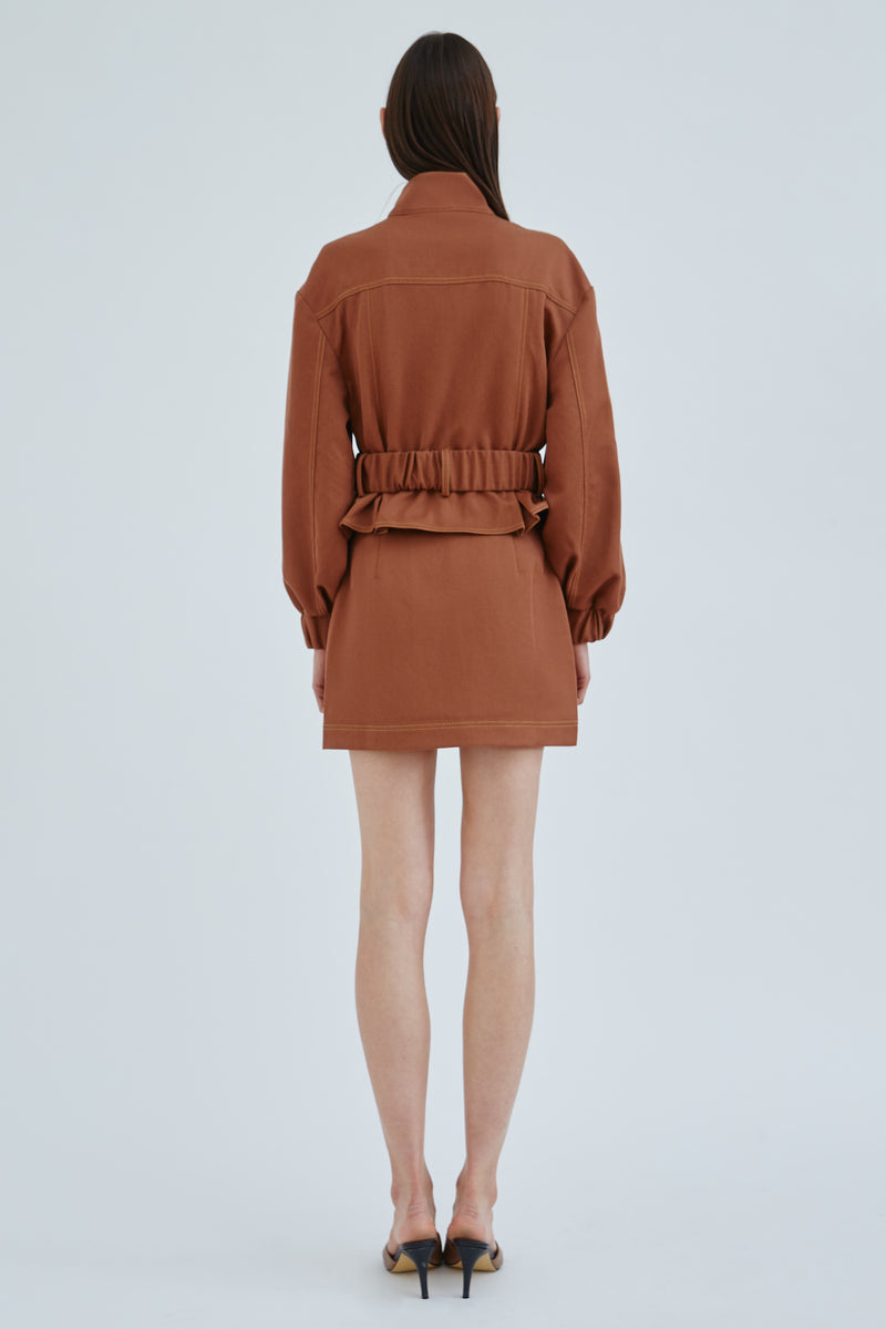 \C/MEO-COLLECTIVE-REGIMENT-SKIRT-CHOCOLATE