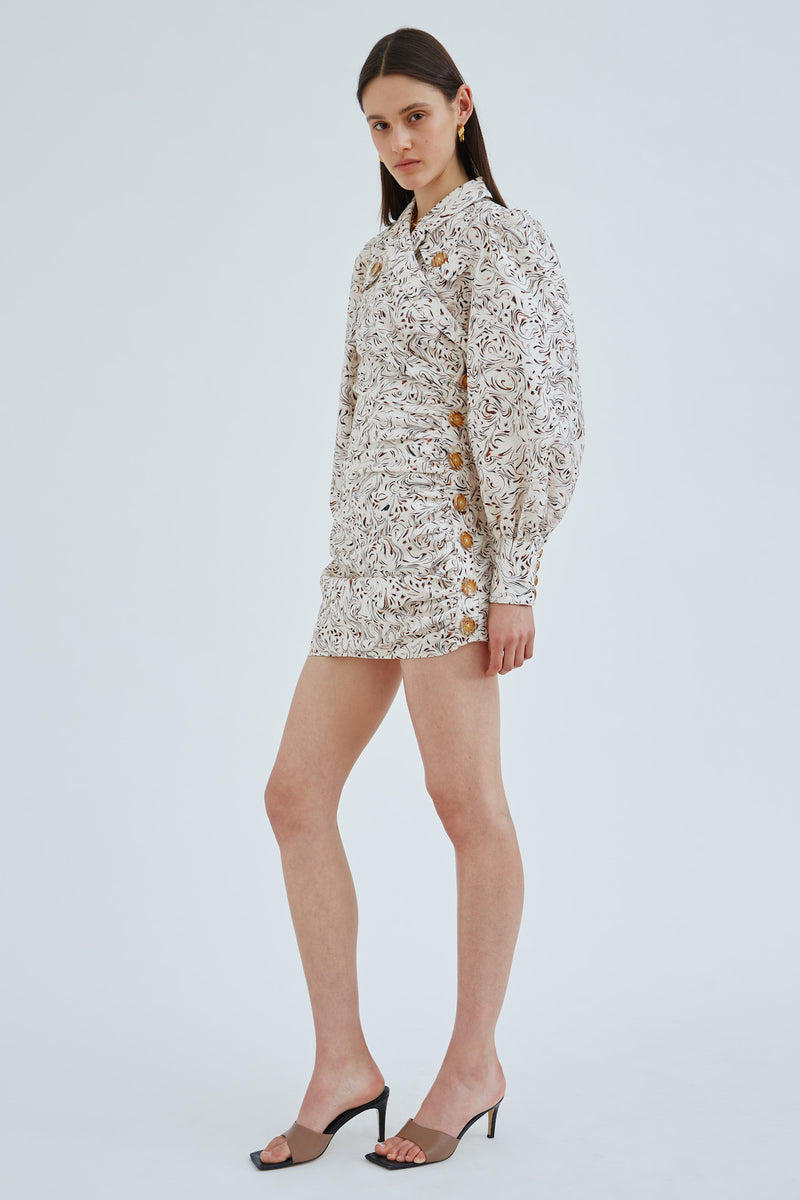 cmeo-collective-ENCASED-DRESS-VANILLA-MARBLE
