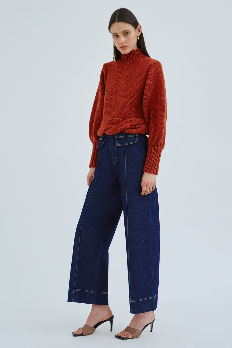 C/MEO-COLLECTIVE-ARCH-KNIT-JUMPER-RUST