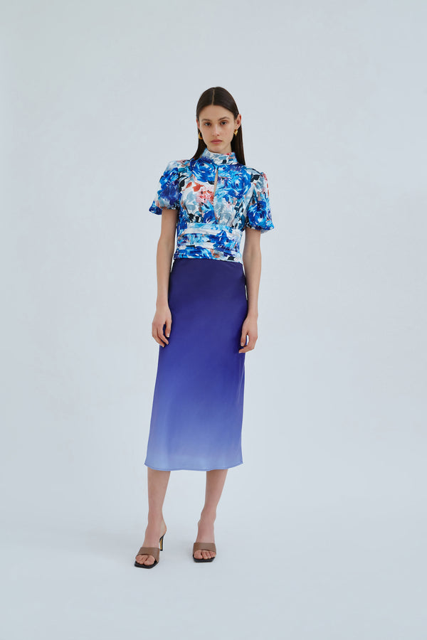 C/MEO-COLLECTIVE-ORBITAL-TOP-BLUE-PAINTED-FLORAL
