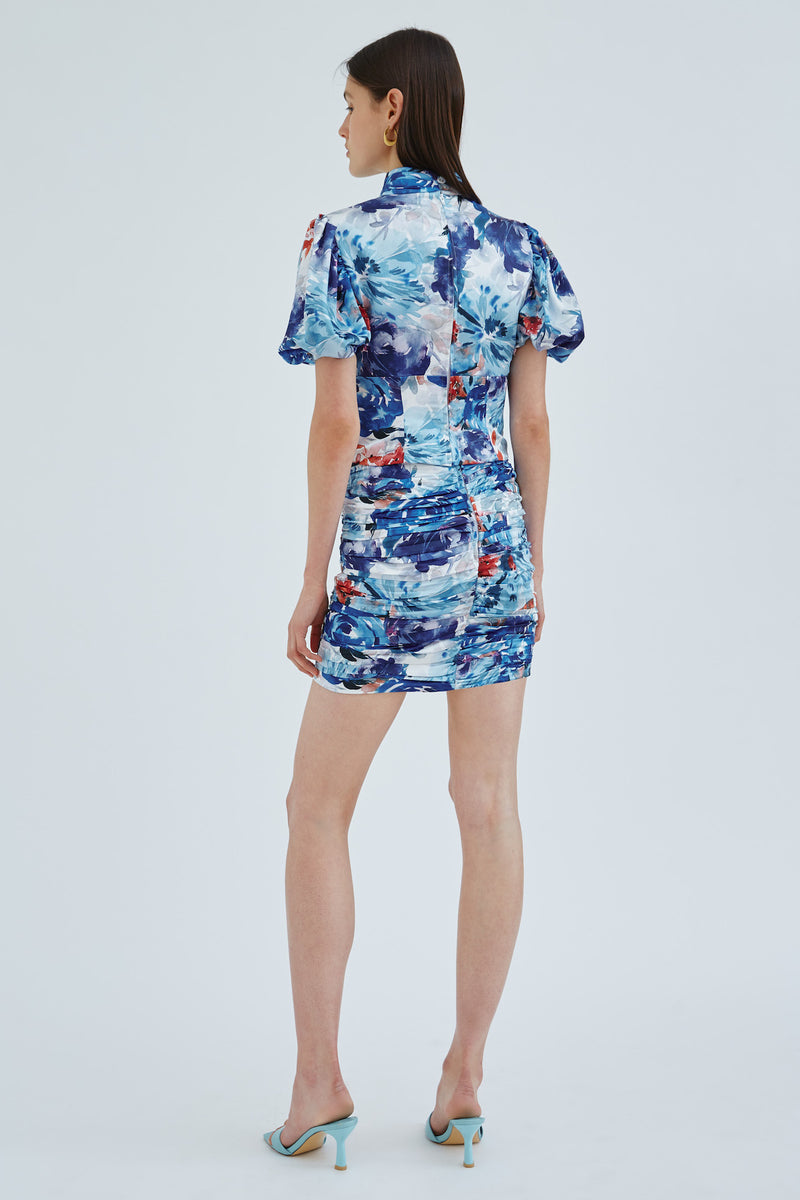 cmeo-collective-ORBITAL-SKIRT-BLUE-PAINTED-FLORAL