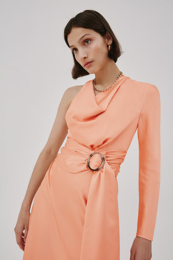 CMEO-COLLECTIVE-VIBE-MIDI-DRESS-SHERBERT