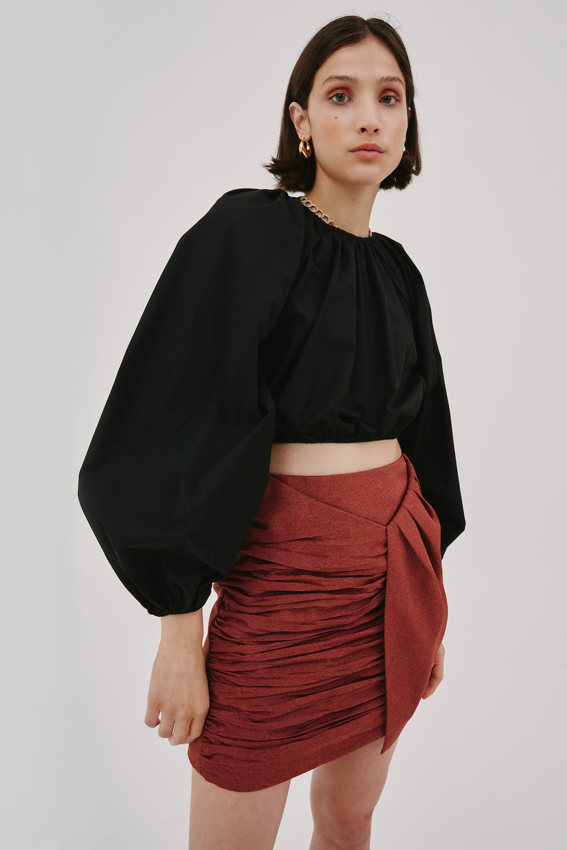 C/MEO-COLLECTIVE-EMANATE-SKIRT-RUST-MARLE