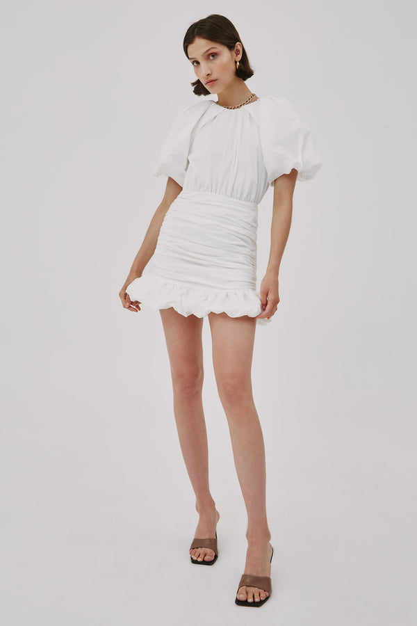 CMEO-COLLECTIVE-CAPTIVE-SS-DRESS-WHITE