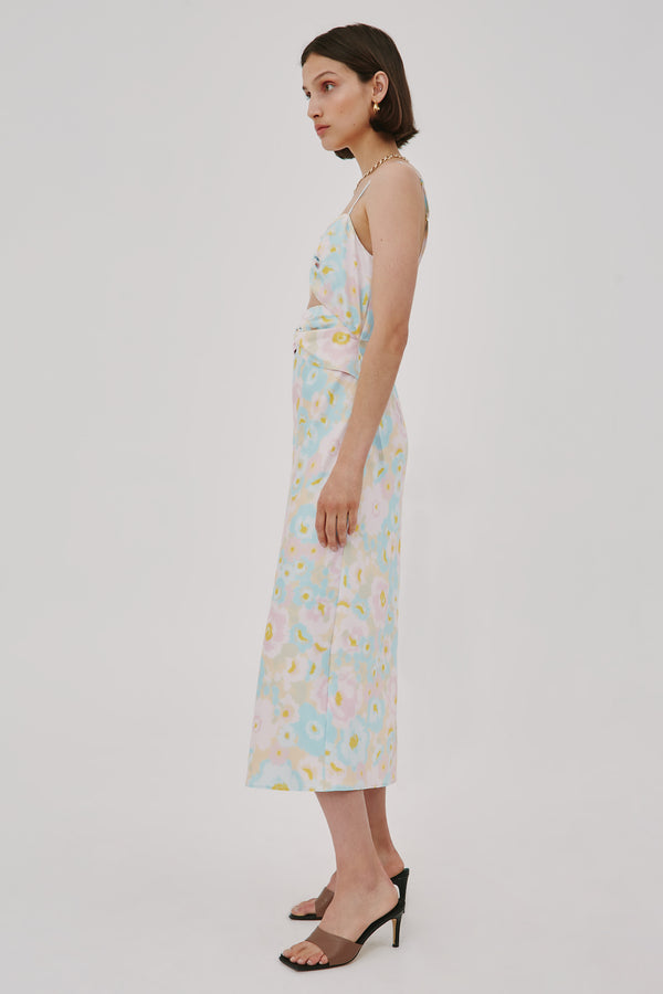 CMEO-COLLECTIVE-CONTEMPO-SS-DRESS-BUTTER-BLURRED-FLORAL