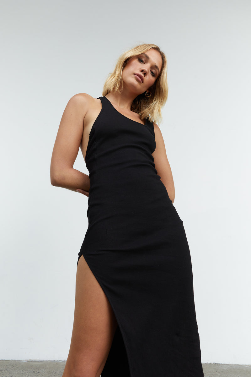 SOVERE-INCLINE-MIDI-DRESS-BLACK