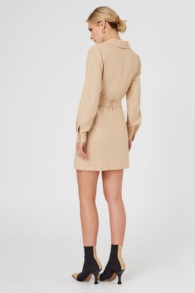 Finders-Keepers-BAMBI-LS-DRESS-TAN