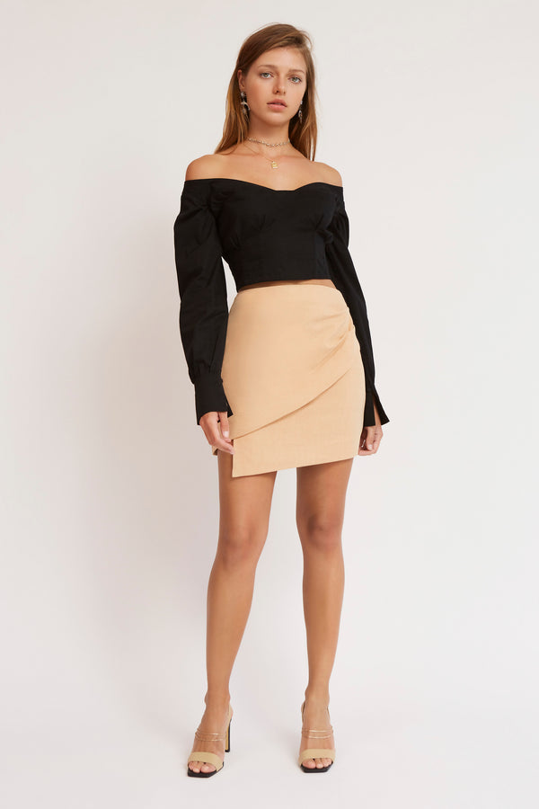 Finders-Keepers-MILA-SKIRT-TAN