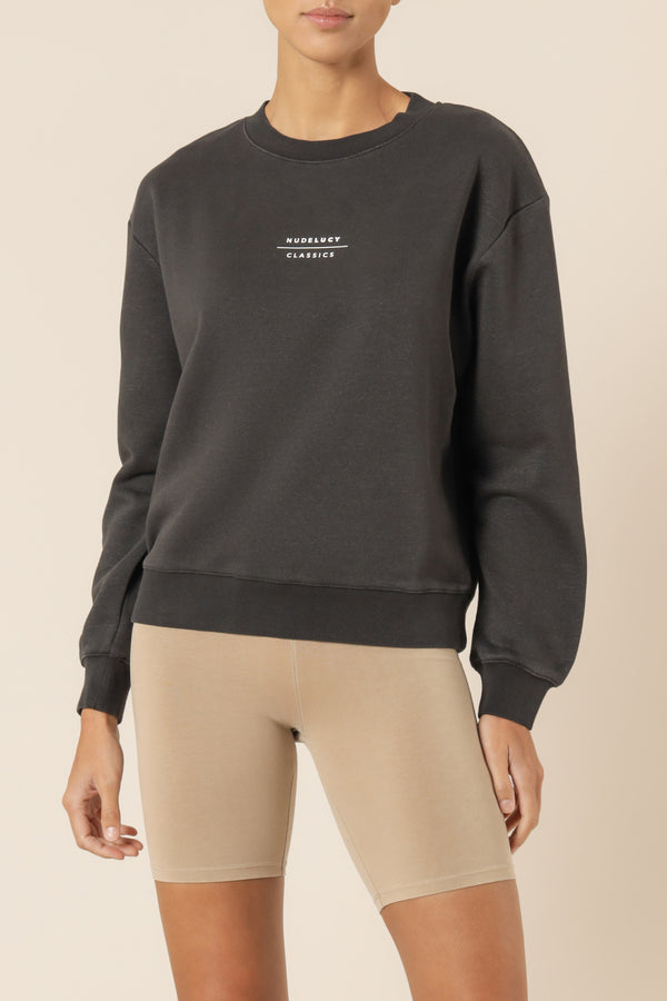 NUDE-LUCY-NUDE-CLASSICS-SLOGAN-SWEAT-COAL