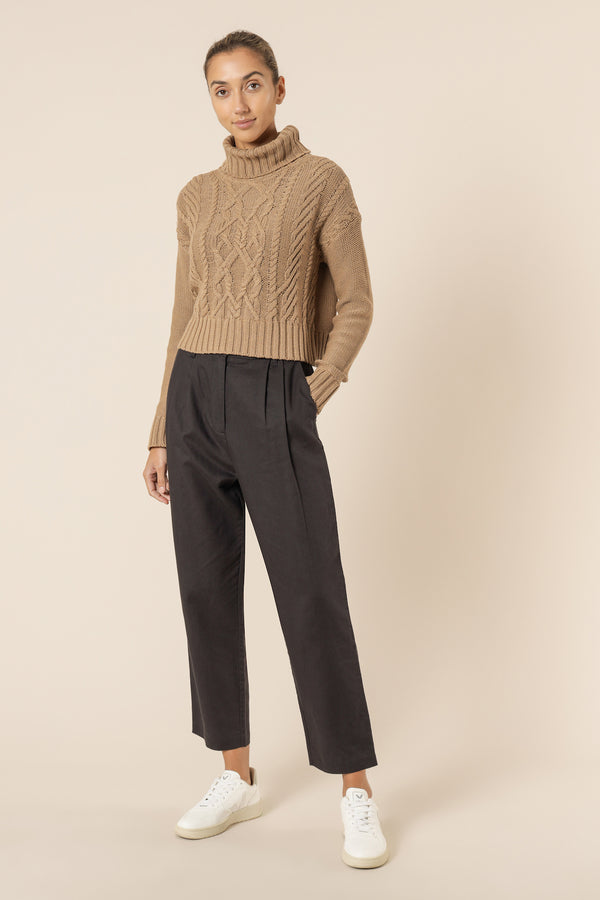 NUDE-LUCY-DORIAN-CABLE-KNIT-MOCHA