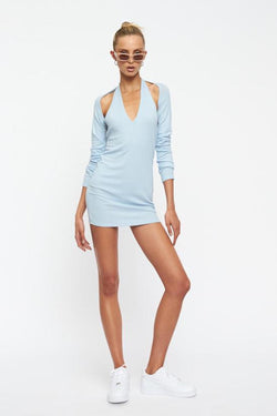 LIONESS-HEAVENLY-SENT-MINI-DRESS-BLUE