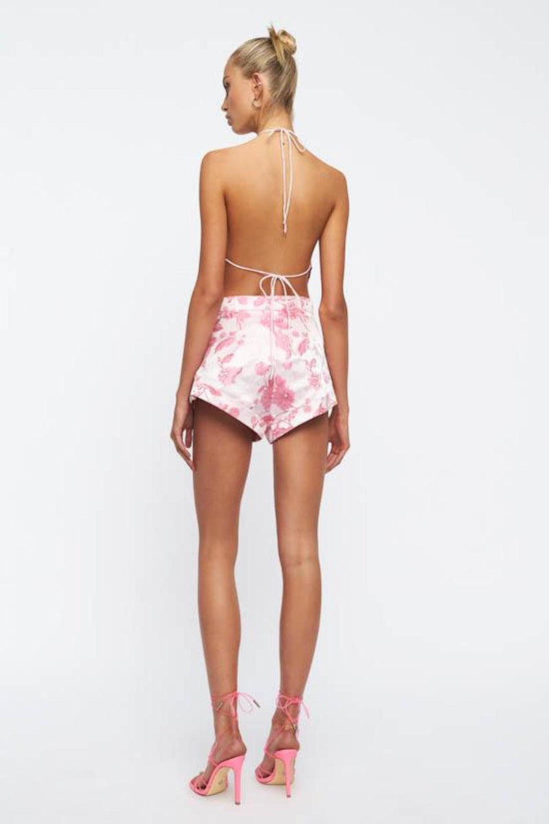 LIONESS-IN-BLOOM-MINI-SHORT-PINK