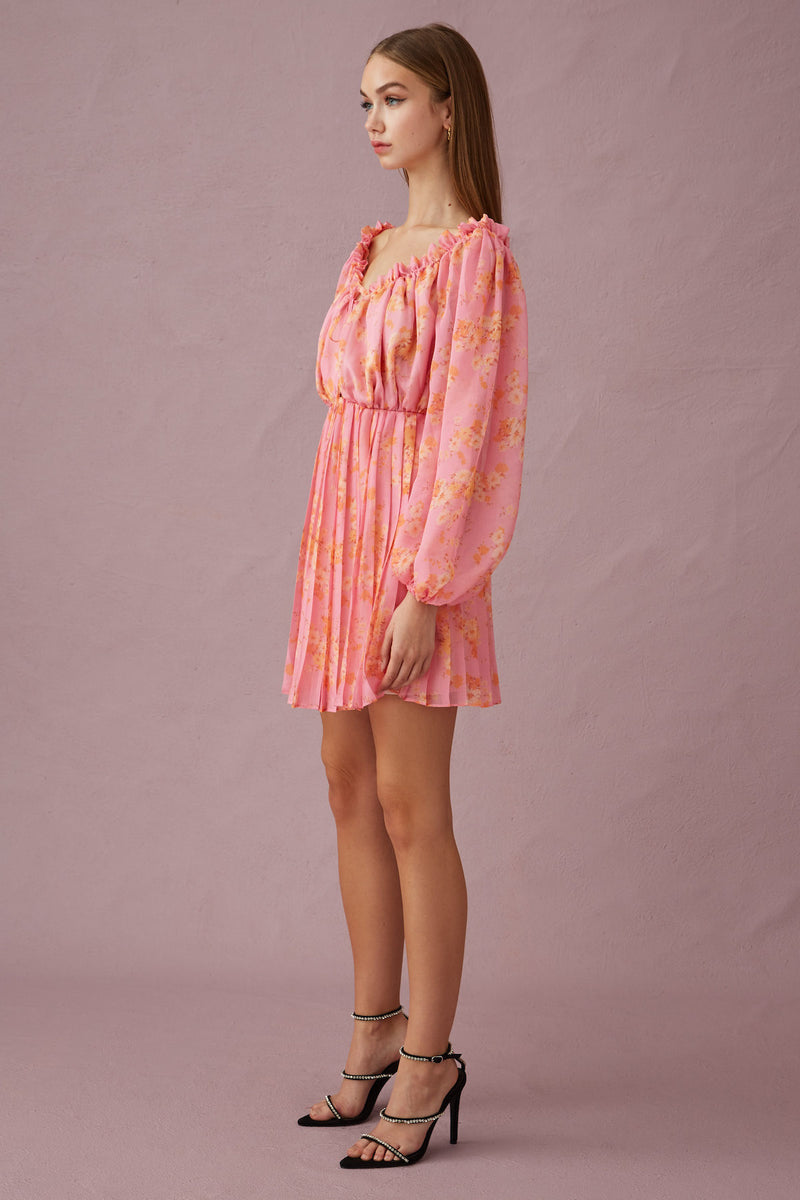 KEEPSAKE-THE-LABEL-ONE-TOUCH-MINI-DRESS-CANDY-BLOSSOM