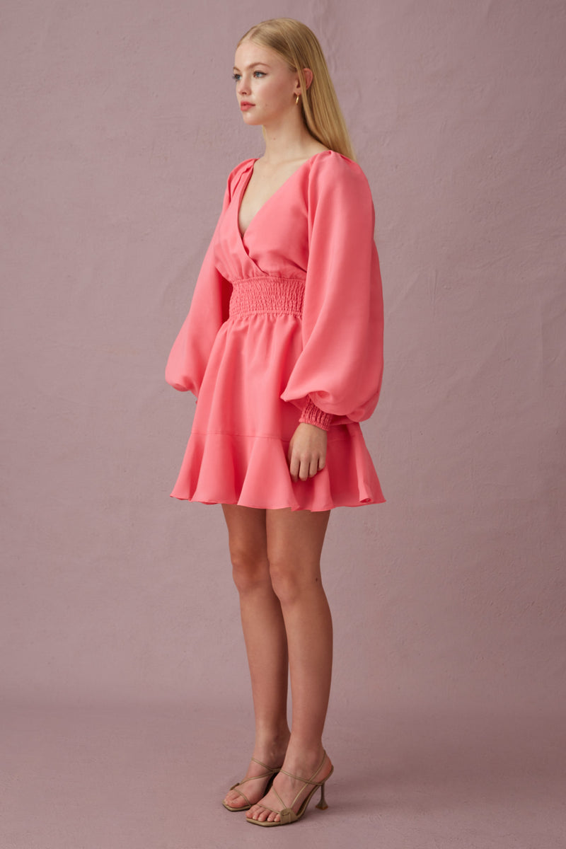 Keepsake-The-Label-Clubhouse-LS-Mini_Dress-Bubblegum