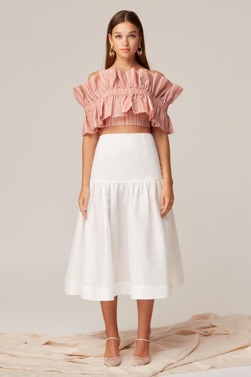 KEEPSAKE-THE-LABEL-CRANES-SKIRT-PORCELAIN
