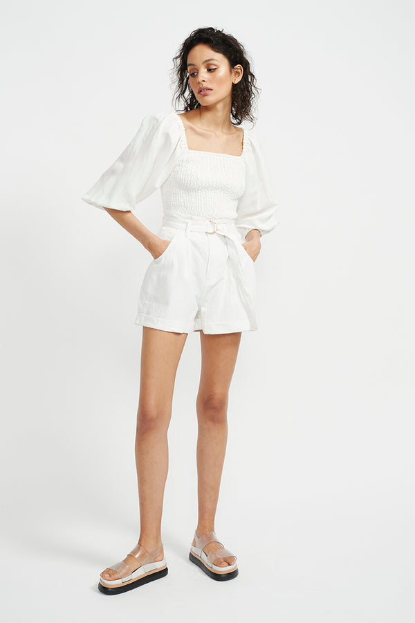STAPLE-THE-LABEL-AVA-SHIRRED-BLOUSE-WHITE