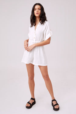 PORTRAITURE PLAYSUIT - IVORY S